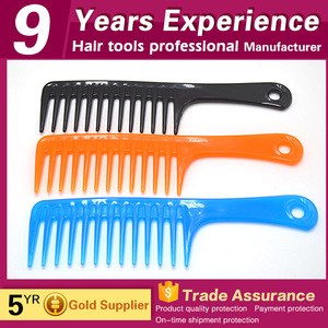 Wholesale OEM salon plastic wide tooth hair comb