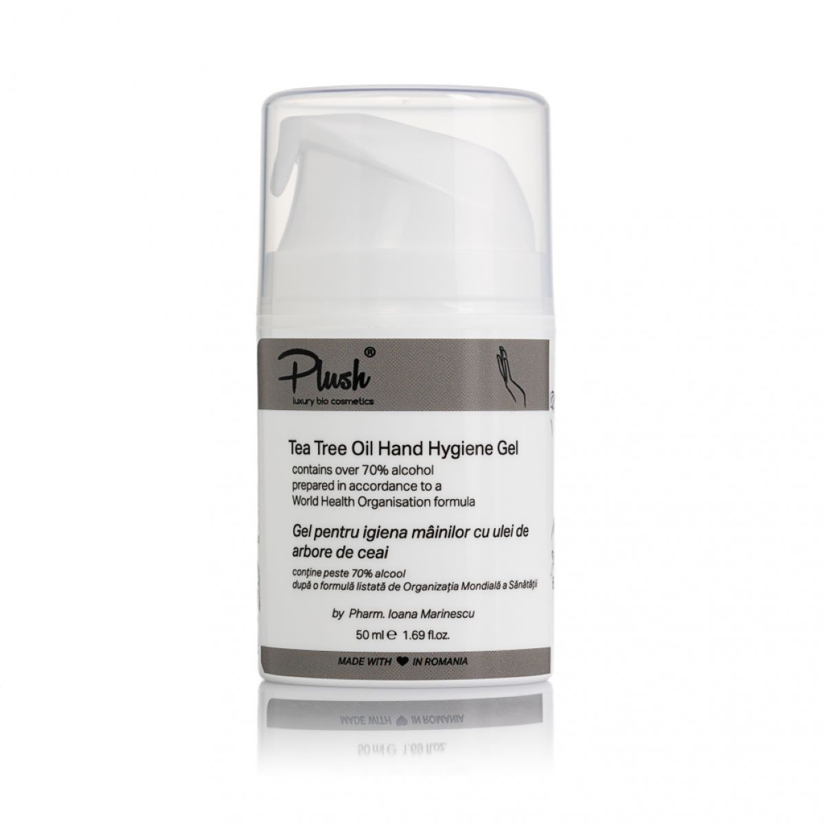 Tea Tree Oil Hand Hygiene Gel - cleans, sanitizes, disinfects and pleasantly perfumes - skin type: all (50 ml)