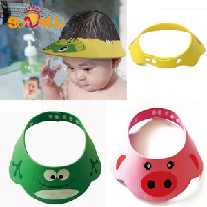 2019 New Style Wholesale Adjustable Wash Hair Baby Shower Cap Baby Shampoo Hat