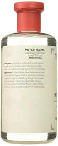 Alcohol-free toner rose petal skin care witch hazel with aloe vera