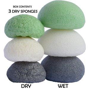 Bamboo Cotton Face Reusable Make Up Remover Pads Washable Makeup Remover Pads with Konjac Sponge