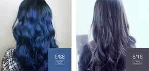 Ecologic Anti-allergy permanent hair dye color Blue Hair Color