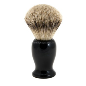 Hand Crafted Pure Badger Shaving Brush with Hard Wood Handle, Mens Luxury Professional Hair Salon Tool, Engineered to Deliver t