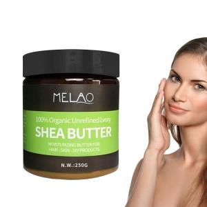 Melao Hot Selling Moisturizer Lightening Hair Body Cream Ghana Raw African Shea Butter