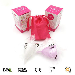 Menstrual Cups 100% FDA Medical Reusable Medical Silicone Soft Menstrual Period Cup