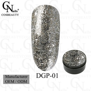 nail polish uv gel Diamond flake platinum professional Gel polish ...
