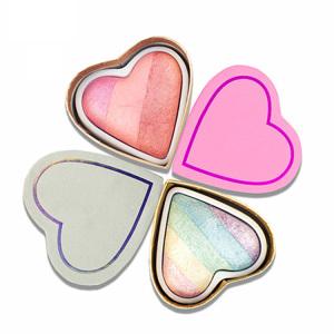 Oem Beauty Cosmetics Make Up Palette Natural Blush & Contour Creative Facial Powder Makeup Blush Bronzer Blusher