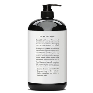 Private Label Natural Organic Activated Bamboo Charcoal Keratin Shampoo