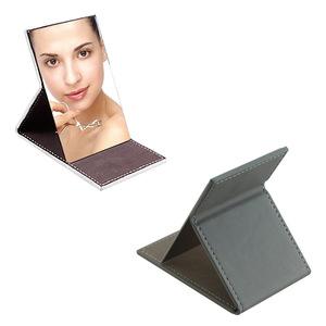 purse  PU leather custom folding compact makeup mirror