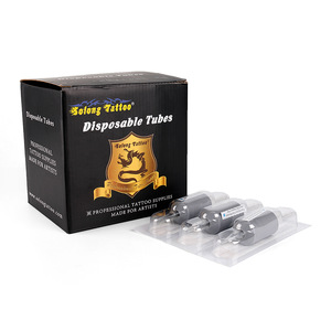 Solong Top OEM Quality Wholesale Tattoo Tubes Cartridge 25mm rubber disposable Tattoo grips