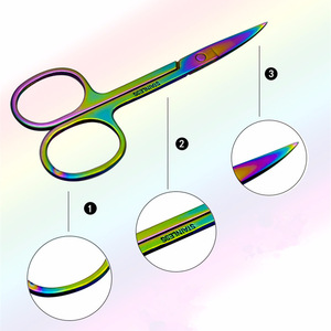 Stainless Steel Eyebrow makeup Eye Brow Scissors Facial Hair Trimmer Grooming Scissors Manicure Scissors