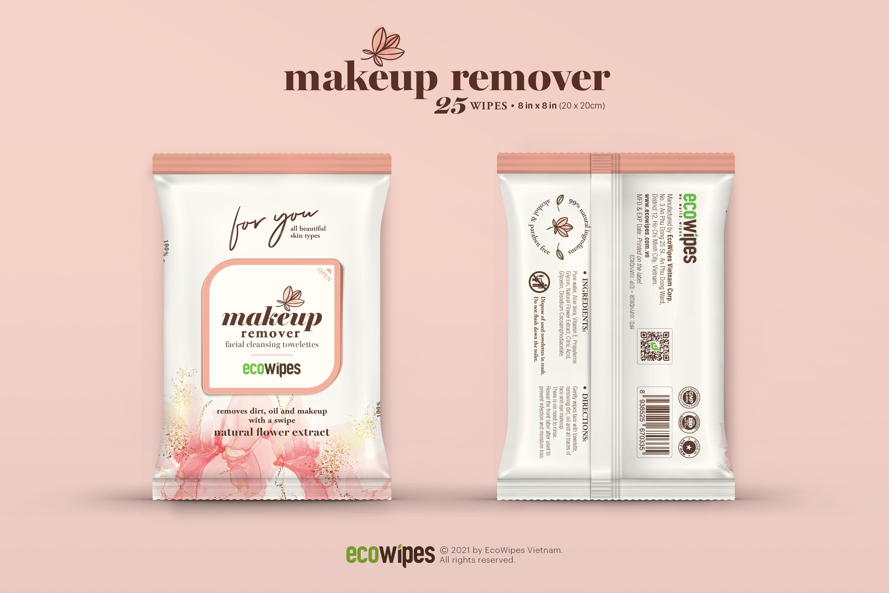 Refreshing Facial Wipes - OEM All Natural Makeup Remover Wipes