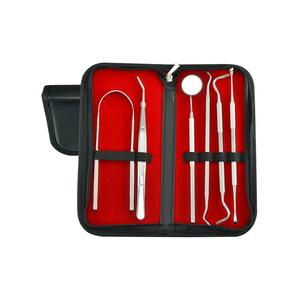 5 Packs Dental Hygiene Kit Teeth Cleaning Tools, Stainless Steel Tartar Remover Tongue Scraper Oral Care Picks