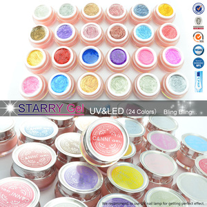 #51203a CANNI Nail Art Beauty Factory UV LED soak off manicure nail supply Color Gel 10ML Starry Glitter Gel