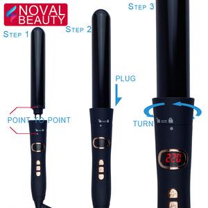 Ceramic / Titanium Easy Use Curling Iron Rollers Professional Automatic Hair Curler