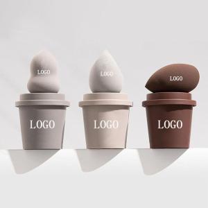 coffee cup custom non latex makeup cosmetic puff beauty sponge blender