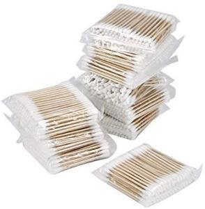Cotton Swab Bud Makeup Health Tools 100pcs Birch Wood Medical Nostril Cleaning Cotton