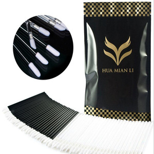 Disposable Lip Brushes Lipstick Gloss Wands Applicator Makeup Tool Kits, Black