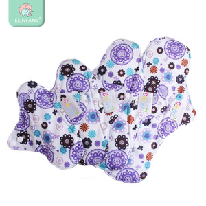 Elinfant lady cloth menstrual pads washable bamboo charcoal reusable sanitary napkin