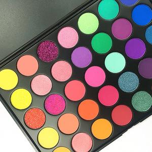 Factory Selling Makefay  35 color luxury waterproof eyeshadow long lasting cosmetic makeup