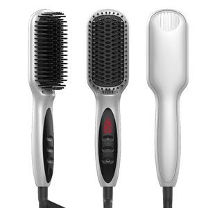 hair straightener brush comb professional Electric straightening brush flat iron Auto Anion straight hair comb