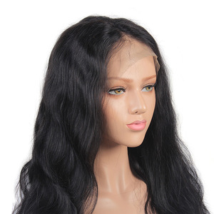 High density natural human hair 360 lace frontal wig for black woman