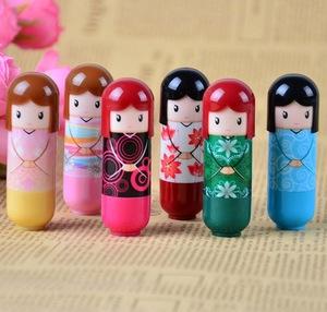 Lovely safe kids Lovely Japanese kimono doll russian doll moisturizing cute Lip balm