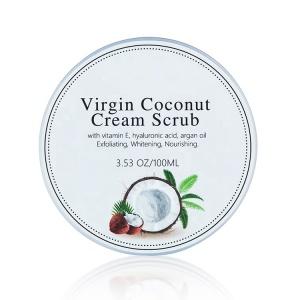 wholesale private label coconut milk face and body scrub