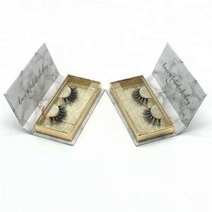 Wholesale Synthetic Fiber false eyelashes 3D silk lashes custom packaging box