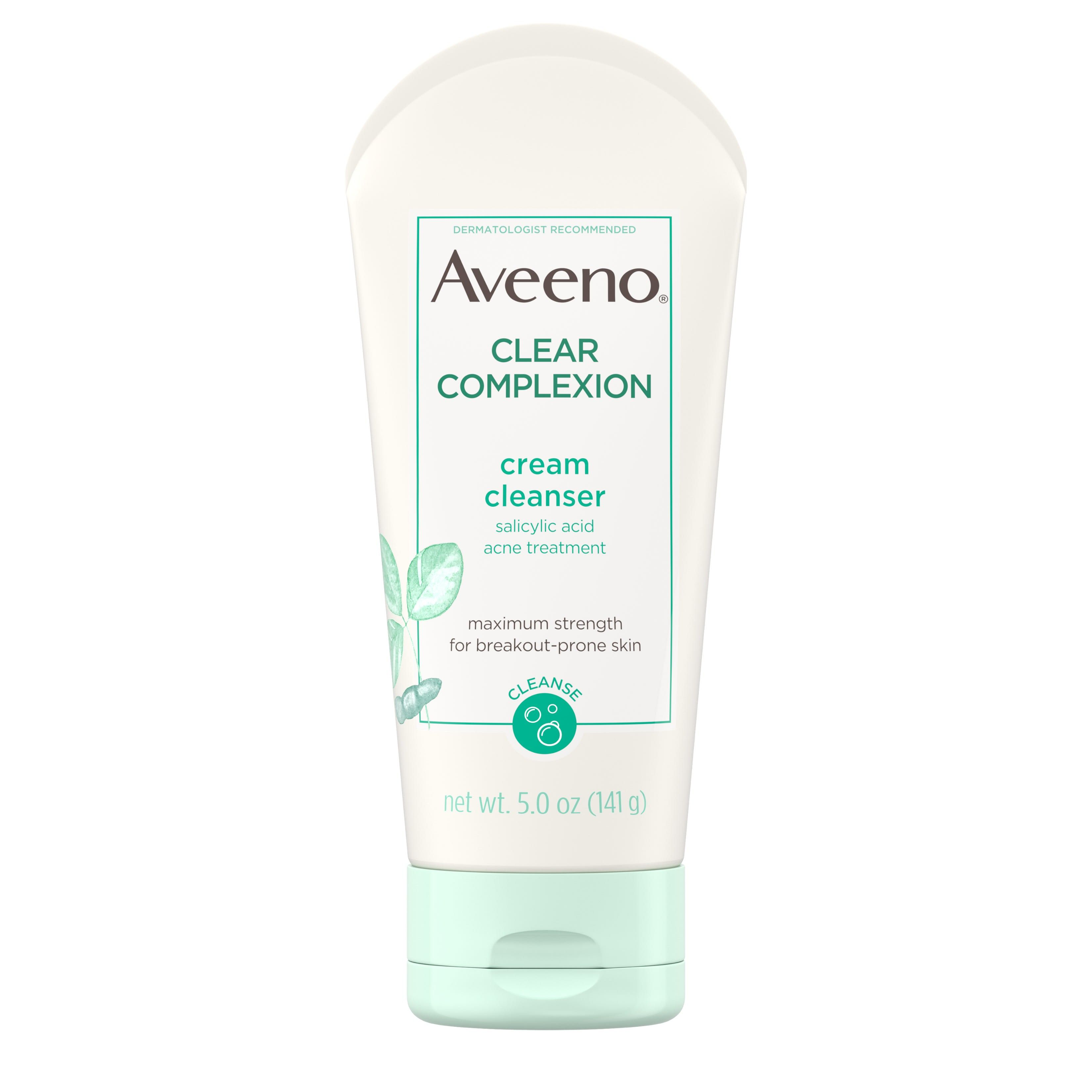 Aveeno Clear Complexion Cream Cleanser with Salicylic Acid, 5.0 oz
