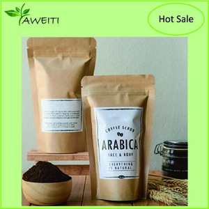 100% Organic Coffee Body Scrub with Salt and Vitamin E 200G with Custom Label