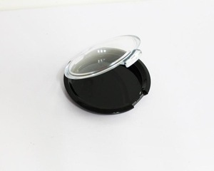 15G Plastic Cosmetic Powder Case, Empty Cosmetic Eyeshadow Packing Box Transparent Cap With Black Bottom