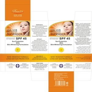 2016 new Sunscreen SPF45 lotion-SPF45 60/90 for 100g