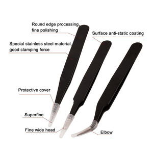 2017 hot Stainless Steel Eyebrow Tweezers black head Manicure eye brow Tweezers