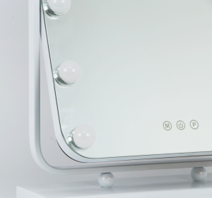 2021 New trending design  LED Cosmetic Hollywood style makeup mirror with bright light