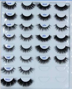 Natural False Eyelash 3D Hand-made Private Label Mink Eyelashes 3D Silk Lashes