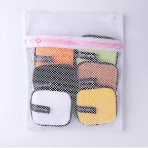 New Design 6pcs Per bag Square Shape Short Microfiber Makeup Remover Pads With Laundry Bag