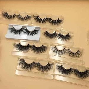 Private label mink lashes vendor custom false eyelash 3d 5d 27mm