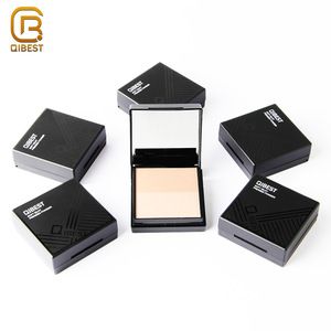 QIBEST Brand Makeup Foundation White Oil Control Waterproof Pressed Setting Face Powder For Oily Skin