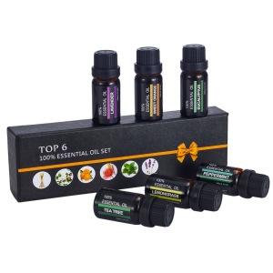 Top 6 Essential Oils 100% Pure Highest Quality Lemongrass Tea Tree Sweet Orange Eucalyptus Mint Lavender microwave lavender pill