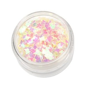 Use a biodegradable glitter powder that sparkles on your face and arms.
