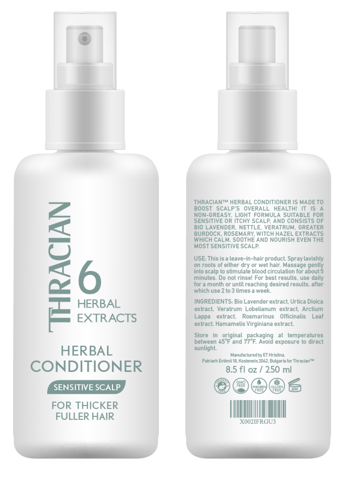 Thracian Herbal Leave-in Conditioner, 250 ml