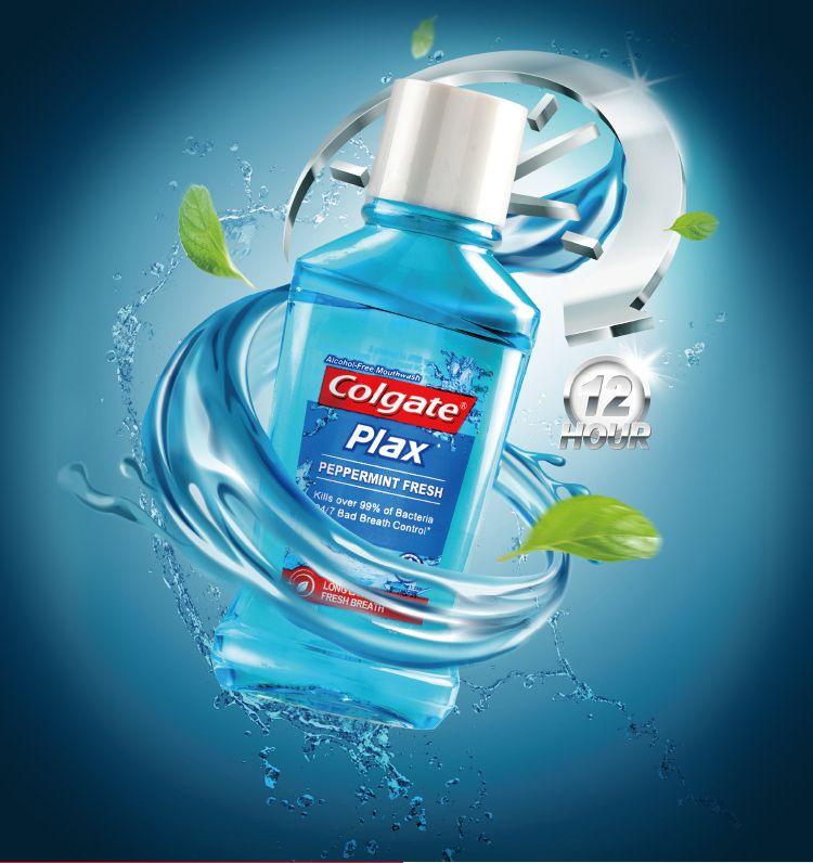 60ml Mint Oral cleaning plastic bottle dental mouthwash