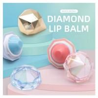 OEM /ODM private label mini diamond shape cosmetics lip balm container for kids