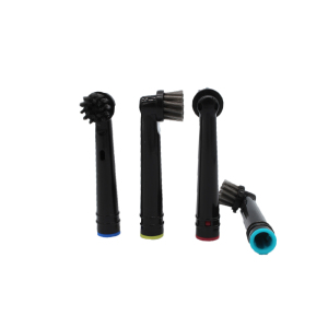 Eco Friendly Packaging Recyclable Cross Action Electric Toothbrush Head Charcoal Brush Heads