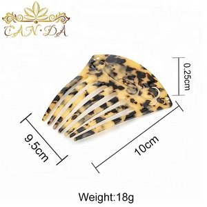 Hair accessories auspicious pattern classical style elegance women fancy cheap hair cellulose acetate combs