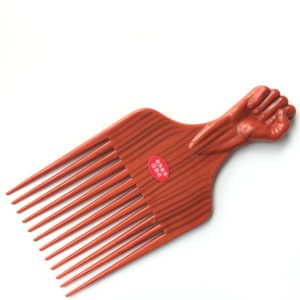 High Quality Plastic African Afro Hair Flat Fist Comb