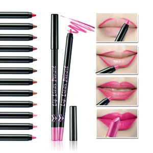 High Quality Waterproof Long Lasting Matte Multicolor Lipliner Kiss Proof Lip Liner Pencil