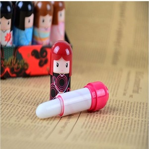 Lovely safe kids Lovely Japanese kimono doll russian doll moisturizing cute Lip balm