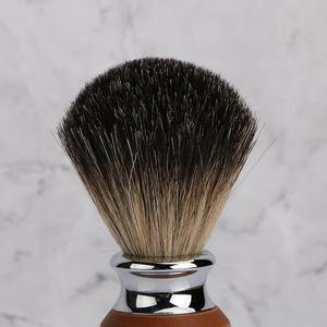 Private label metal handle badger hair shaving brush, men shaving brush set